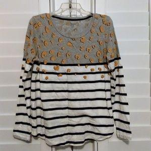 Crown & Ivy knit shirt. Lg. Never worn.